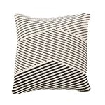 Surya black stripes cushion