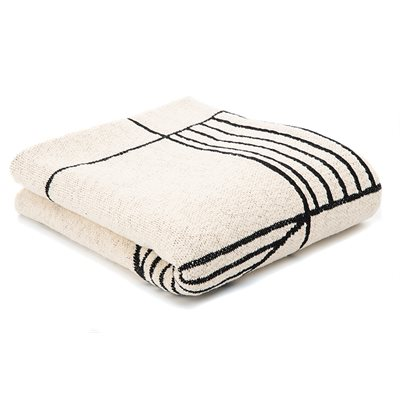 Surya black stripes throw