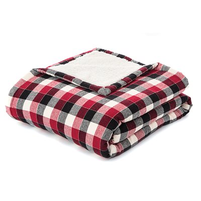 Billy red plaid throw