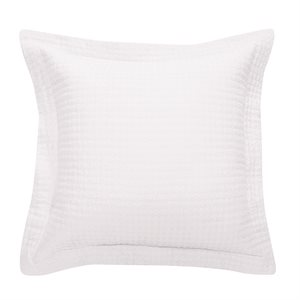 Cache coussin blanc Rustic