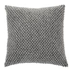 Pompon grey cushion